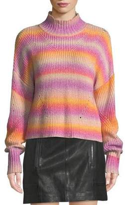 Rebecca Minkoff Brinkley Mock-Neck Ombre Pullover Sweater