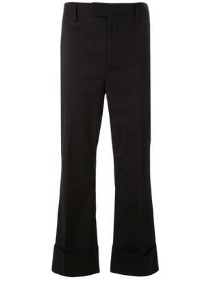 DSQUARED2 cropped tailored flare trousers