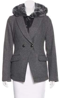 Elizabeth and James Fur-Lined Layered Blazer