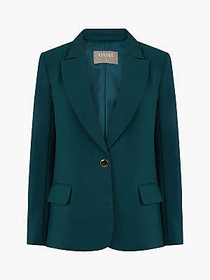 Single Breasted Suit Jacket, Mid Green