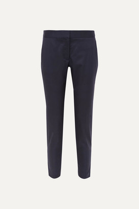 Stella McCartney Vivian Wool Straight-leg Pants - Navy