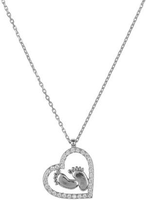 Latelita Heart Mum Pendant Necklace Silver