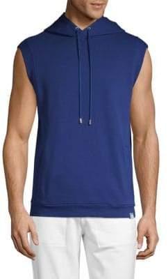 Versace Sleeveless Cotton Jersey Sweatshirt