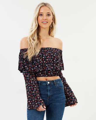 555ea00dc45a8e Black Off The Shoulder Top - ShopStyle Australia