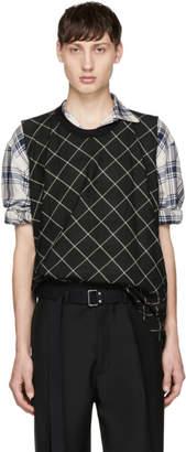 Lanvin Green Check Muscle T-Shirt