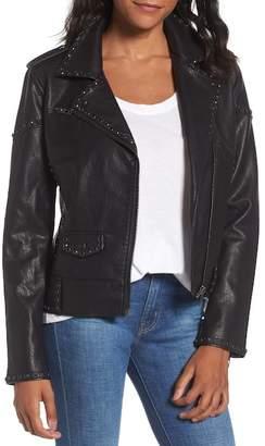 Blank NYC BLANKNYC Denim Icebreaker Faux Leather Jacket