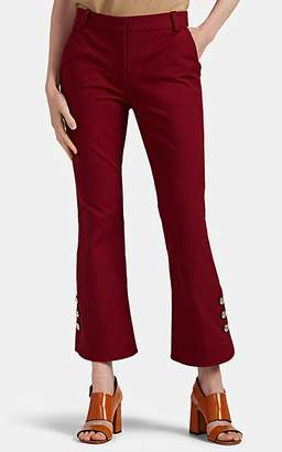 Derek Lam 10 Crosby Women's Button-Detailed Crop Flared Trousers - Red