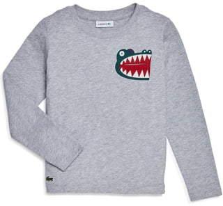 Lacoste Fun Croc Long Sleeve Pocket T-Shirt