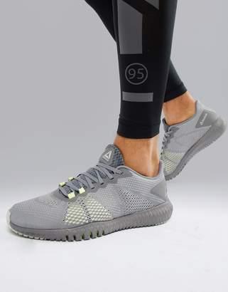Reebok Training astroride flex sneakers in triple gray cn5192