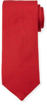 Luciano Barbera Solid Woven Silk Tie