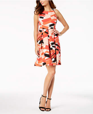 Nine West Geo-Print A-Line Dress