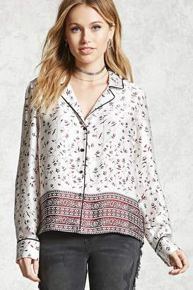 Forever 21 Contemporary Pajama Style Shirt