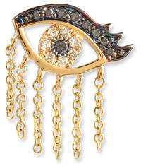 Sydney Evan 14K Short Fringe Lash Stud Earring with Diamonds