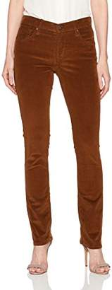 James Jeans Women's Slim Pencil Leg Baby Corduroy Pant in Classic Camel
