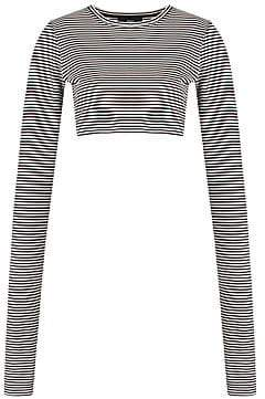Marc Jacobs Women's Redux Grunge Mini Stripe Crop Tee