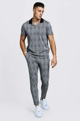 Revere Collar Polo & Cropped Jogger Twin Set