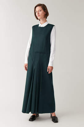Cos PLEATED COTTON DRESS