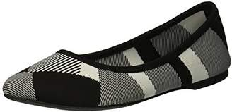 Skechers Women's Cleo-BAM-Engineered Knit Skimmer Ballet Flat