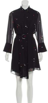 Jason Wu Grey by Printed Long Sleeve Dress w/ Tags