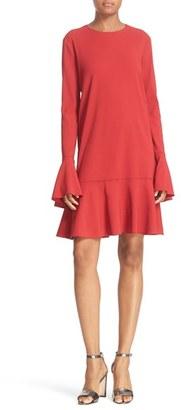 Women's Theory 'Marah Bergen' Bell Sleeve Flounce Hem Dress $415 thestylecure.com