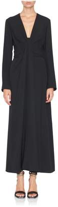 Carolina Herrera Longsleeve Plunge Neck Dress