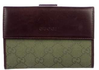 Gucci GG Canvas Compact Wallet Olive GG Canvas Compact Wallet