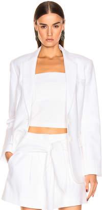 Tibi Cecilia Blazer in White | FWRD