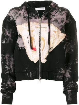 Faith Connexion zipped embroidered hoodie