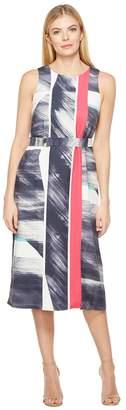 Ellen Tracy Belted Column Dress Women's Dress