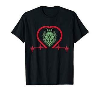 Wolf Heartbeat Wolf Shirt for Girls Women