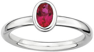 JCPenney FINE JEWELRY Personally Stackable Oval Lab-Created Ruby Ring