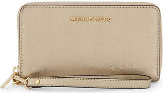 MICHAEL Michael Kors Jet set travel leather purse, Pale gold