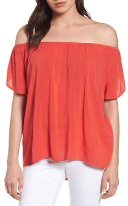 Graham & Spencer VELVET BY Off-the-Shoulder Blouse