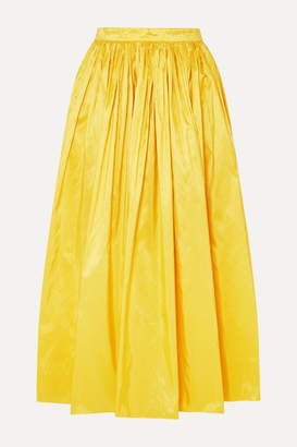 ADAM by Adam Lippes Silk-taffeta Midi Skirt - Bright yellow