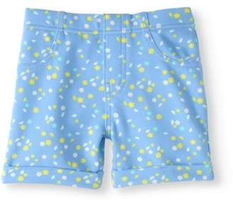 Garanimals Toddler Girls' Printed Knit Cuffed Jegging Shorts