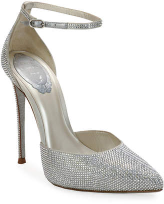 Rene Caovilla Pointed-Toe Crystal Pumps