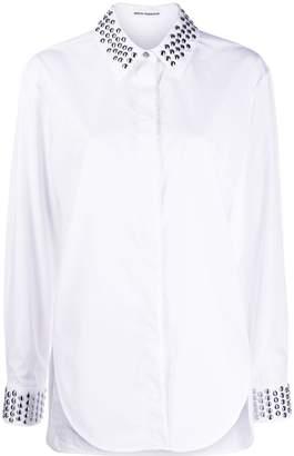 Paco Rabanne stud-embellished collar shirt