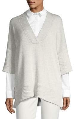 Lafayette 148 New York Relax-Fit V-Neck Sweater