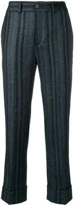 Incotex striped glitter trousers
