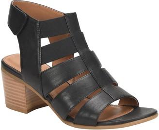 Comfortiva Leather Block Heel Sandals - Alexis