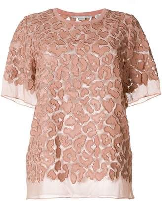Stella McCartney sheer leopard print blouse