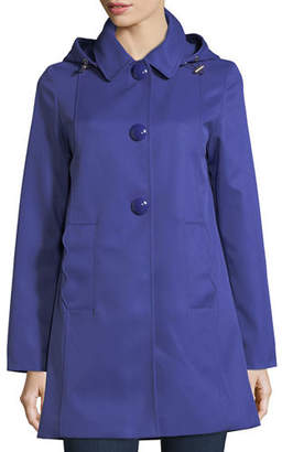 Kate Spade Mac Single-Breasted A-Line Rain Coat
