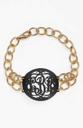 Moon and Lola 'Annabel' Medium Oval Personalized Monogram Bracelet