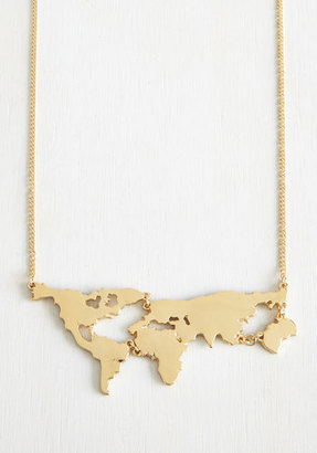 MuchTooMuch There's a Map for That Necklace in Gold $19.99 thestylecure.com