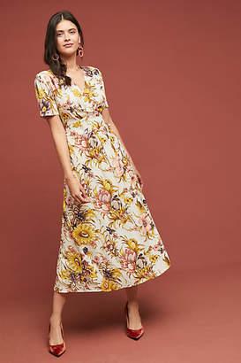 Tiny Sunflower Wrap Dress