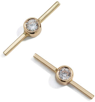 Ariel Gordon Diamond Axis Stud Earrings