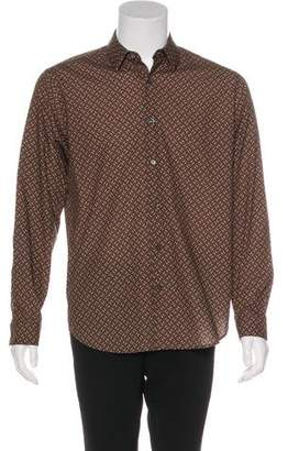 Theory Patterned Button-Up Shirt