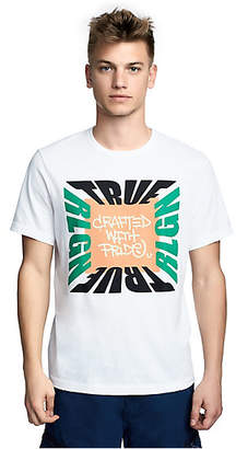 True Religion MENS COLOR BLOCK BRAND GRAPHIC TEE