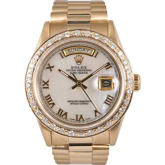 Rolex Datejust 36mm yellow gold watch