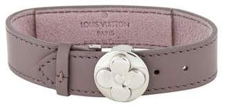 Louis Vuitton Leather Flower Wish Bracelet